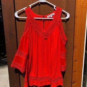 Heartloom Blouse in Red/Orange